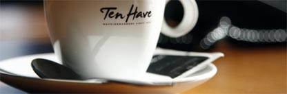 Ten Have koffie en koffiebonen footer kopje koffie